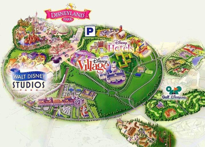 Mappa Hotel Disneyland Paris