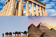 Viaggia gratis per un tour a scelta tra Grecia, Marocco o Egitto