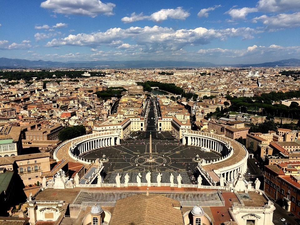 Roma Vaticano vista aerea
